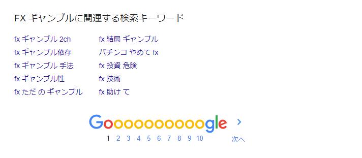 FX ギャンブル Google 検索