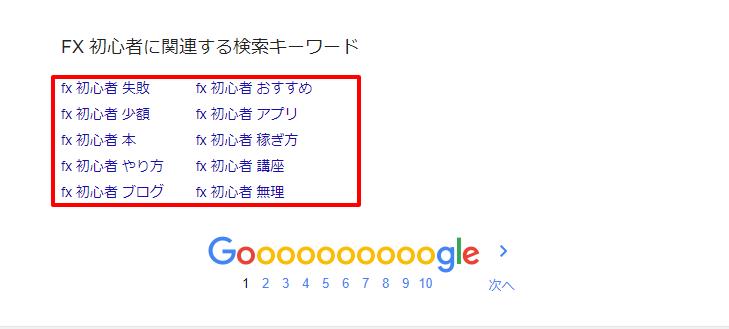 FX 初心者 Google 検索